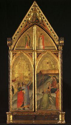 Bernardo Daddi - Trittico, La Vergine col Bambino in trono e Santi (chiuso) - 1338 - Courtauld Institute of Art