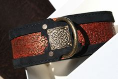 Workshop SAURI creates unique handmade leather dog collars for large breed dogs