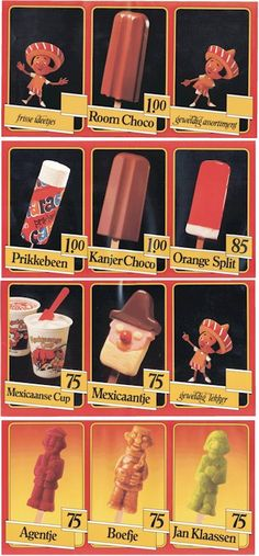jaren '80 ijsjes, erg leuk om terug te zien!