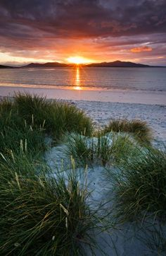 *Sunrise over the Sound of Harris, Outer Hebrides, Scotland.