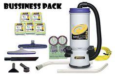 ProTeam Super CoachVac HEPA Commercial Backpack Vacuum w/ Versatile Tool Kit & 2 pc wand, 10 quart VALUE PACK