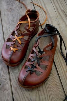 MACHADO SHOES. Create your own matching/mismatching fantastic footwear by changing the ribbon colour etc.