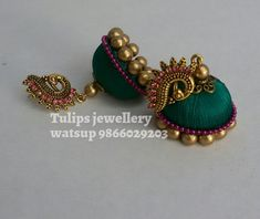 Silk Thread Bangles, Thread Jewellery, Diy Jewellery, Gold Jewellery Design, Bridal Jewellery, Silk Thread Earrings Designs, Silk Thread Necklace, Beaded Necklace Patterns, Quilling Earrings