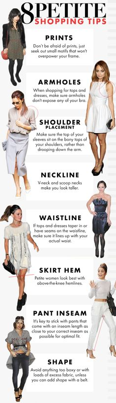 A few easy tips for the petite ladies in da house. | 37 Super Helpful Style Charts That'll Help You Look Fly AF