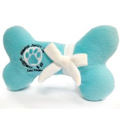 """Sniffany & Co. Dog Bone -     This Please Return To Sniffany & Co. Tiffany & Co. inspired dog bone toy is fit for the discerning diva dog, this dog toy is sure to provide you with a hearty chuckle.  5x5x3""""  $14.99"""