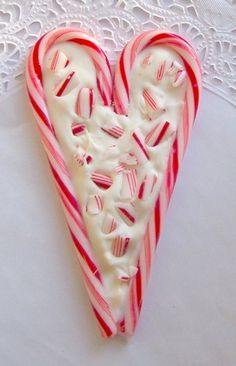 Turn leftover candy canes in Valentine's Day peppermint bark.