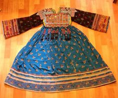 Afghan kuchi ethnic dress vintage asian traditional costume bellydance costume tribal handmade dress unique dress by akcaturkmen