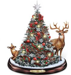 Tabletop Snowing Christmas Tree | Snowing christmas tree ...