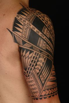 A vivid Polynesian Half Sleeve on Vini. Tattoo by Shane Gallagher Coley, currently working @ Chapel Tattoo, Melbourne, Australia
