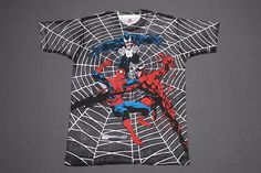 XL NOS Vtg 90s 1993 All Over Print Spiderman Venom Carnage Marvel Comic T Shirt   eBay