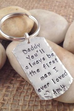 Message Keychain:  Any dad will love this sweet keychain.