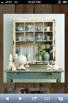 Rustic window crate idea