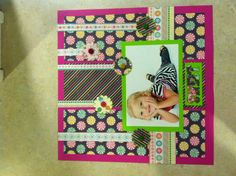 1st page of Elyse 2 1/2 scrapbook spread