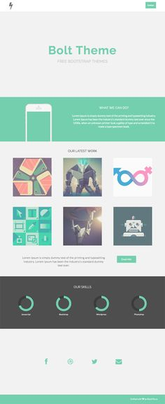 Bolt – Flat One Page Theme