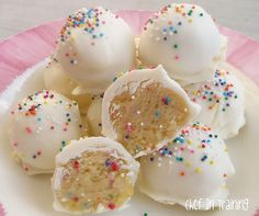no bake cake pops/truffles. Made these for Christmas with red and green sprinkles and they are awesome!! So addicting! I ended up with about 50-55 truffles. Will make again for sure!!