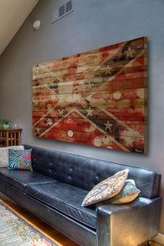 Confederate Brown Distressed Wood Wall Art by Parvez Taj on @HauteLook