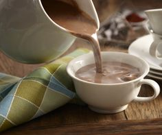 Our version of Mexican hot chocolate includes both bittersweet and semi-sweet chocolate, cinnamon and ancho chile pepper.