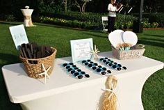 Beach wedding decor PERFECT for my laid back style