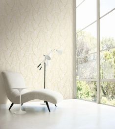 Metallic gold tones warm up modern wallpaper and add a touch of luxury to easily elevate any space. Luxury Wallpaper, Gold Wallpaper, Modern Wallpaper, Designer Wallpaper, High Quality Wallpapers, Gold Pattern, Leaf Prints, Geometric Shapes, Accent Chairs