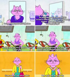 "When Princess Carolyn demonstrated what it's like to forego all emotional vulnerability out of fear of making mistakes. | 31 Times ""Bojack Horseman"" Got Way, Way Too Real"