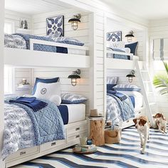 You're never too old to get excited about bunk beds 💙 #mypotterybarn #bedroomgoals #oooh #bunkbeds #kidsroom #guestroom