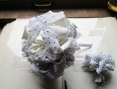 Handmade Vintage Fabric Flower Bouquet by bedouin on Etsy