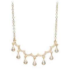 Aria | Cloud Necklace with Diamond Dangles