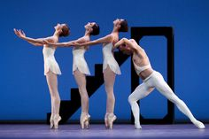 "Daria Klimentová, Anais Chalendard, Begoña Cao and Zdenek Konvalina. Performing ""Apollo"" by English National Ballet. Photographer Helen Maybanks"