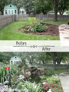 Why You Should Invest In Simple Water Features For Your Home Garden – Pool Landscape Ideas Cheap Landscaping Ideas, Backyard Landscaping, Garden Pool, Water Garden, Farmhouse Outdoor Decor, Small Backyard Design, Patio Design, Outdoor Ponds, Backyard Water Feature