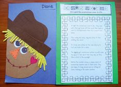FREE Scarecrow Writing Prompt Craft