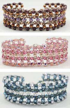 Bridesmaid's Crystal Cuff, free pattern