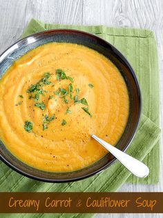 Creamy Carrot and Cauliflower Soup cookingwithcurls.com