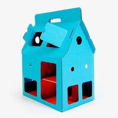 Poppenhuis uit karton van Studio Roof / Blauw