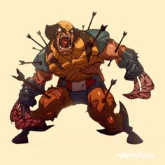 Wolverine by Michael Anderson, via Behance