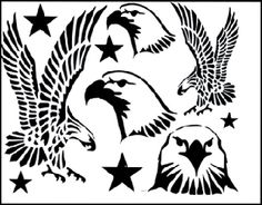 Free Feather Quilting Stencils | Eagle Stencil Pattern http://www.eaglefeathertrading.com/Merchant2 ...