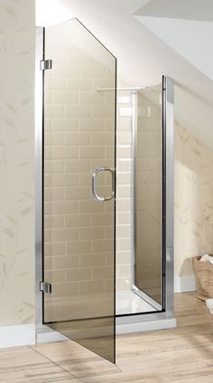 Loft Conversion Showers: Fitting an Enclosure Under a Sloping Ceiling / Drench - The Bathroom of Your Dreams Attic Shower, Small Attic Bathroom, Loft Bathroom, Upstairs Bathrooms, Bathroom Renos, Bathroom Showers, Glass Showers, Tiny Bathrooms, Luxury Bathrooms