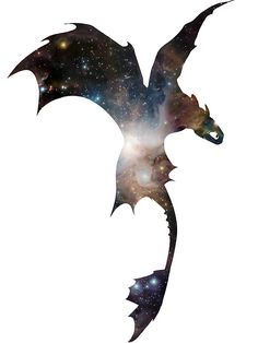«Toothless Silhouette - Galaxy Print» de making-escape