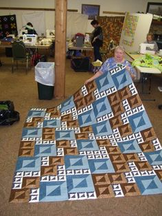 Magic Squares....love this blue and brown combination