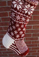 Ravelry: Falling Snow Stocking pattern by Jennifer Hoel