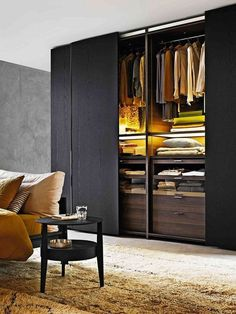 53 Elegant Closet Design Ideas For Your Home. Unique closet design ideas will definitely help you utilize your closet space appropriately. An ideal closet design is probably the only avenue . Wardrobe Design Bedroom, Modern Wardrobe, Closet Bedroom, Wardrobe Ideas, Closet Ideas, Closet Wall, Bedroom Storage, Black Wardrobe Closet, Build Wardrobe