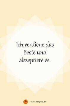 Positive Self Talk, Positive Vibes, Reiki Symbols, Reiki Meditation, German Quotes, Happy Minds, Find Quotes, True Words, Affirmations