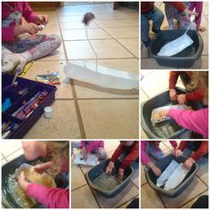 We made milk bottle boats to see how many lentils they can hold!
