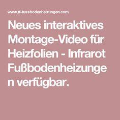 Neues interaktives Montage-Video für Heizfolien - Infrarot Fußbodenheizungen verfügbar.