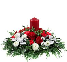 Beautiful Christmas flower centerpieces by Canada Flowers. Hurricane globe centerpieces and candle centerpieces. Festive party centerpieces for Christmas gifts available same day in Canada. Candle Centerpieces, Christmas Centerpieces, Floral Centerpieces, Pillar Candles, Christmas Candles, Christmas Wreaths, Xmas, Christmas Flower Arrangements, Beautiful Christmas