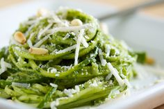Kale Pesto is an unlikely deliciousness and it came about as many good ideas do - at Farmer's Market! It finally occurred to me that kale could be used for something other than Green Smoothies…