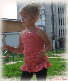 Crochet Girls, Crochet For Kids, Crochet Top, Crochet Kitchen, Learn To Crochet, Knitting Stitches, Indian Dresses, Crochet Clothes, Baby Dress