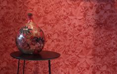 Rood 3D Behang Bloemen / Red 3D Wallpaper Flowers collection Moods - BN Wallcoverings