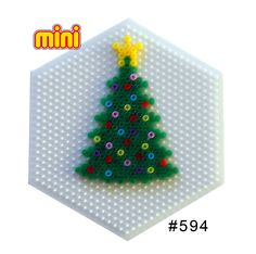 Christmas tree Hama mini perler pattern