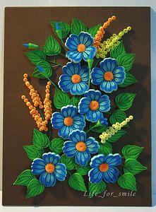 Blue flowers unframed