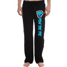 XTD Men's PewDiePie Bro Fist logo Lounge Pajama Pants ($24) ❤ liked on Polyvore featuring men's fashion, men's clothing, men's sleepwear, mens sleepwear, mens apparel, mens clothing and mens pj pants